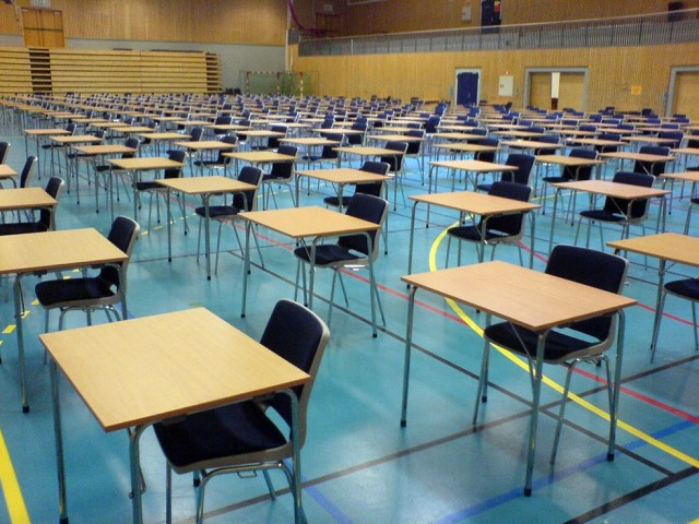 hall set out for exams